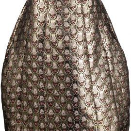 Simone Rocha A-line jacquard skirt - Gold