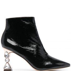 Sophia Webster Bijou jewel-heel ankle boots - Black