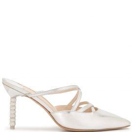 Sophia Webster Coco crystal heel mules - Silver