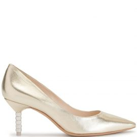 Sophia Webster Coco crystal heel pumps - GOLD