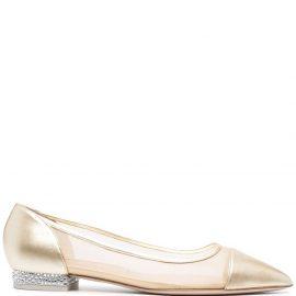 Sophia Webster Jasmine ballerina pumps - Gold