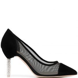 Sophia Webster Jasmine crystal-embellished mesh pumps - Black