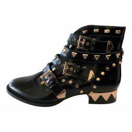 Sophia Webster Patent leather biker boots