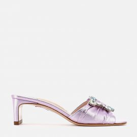 Sophia Webster Women's Margaux Mid Heeled Mules - Lilac/Mint