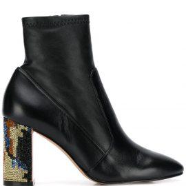 Sophia Webster embellished-heel ankle boots - Black