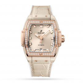 Spirit Of Big Bang Beige Ceramic King Gold Diamonds 39mm Watch