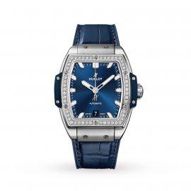 Spirit Of Big Bang Titanium Blue Diamonds Automatic 39mm