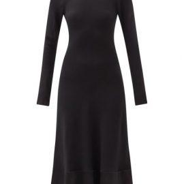 Ssone - Chase Crystal-appliqué Dress - Womens - Black