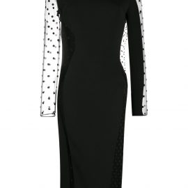 Stella McCartney Arielle polka-dot sheer midi dress - Black