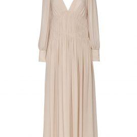 Stella McCartney Carleigh silk-georgette maxi dress - Neutrals