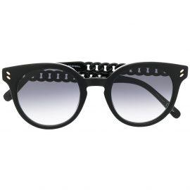 Stella McCartney Eyewear chain-detail sunglasses - Black