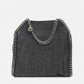 Stella McCartney Falabella Mini Tote Bag In Denim