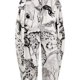 Stella McCartney Rosalinda horse-print tapered trousers - Black