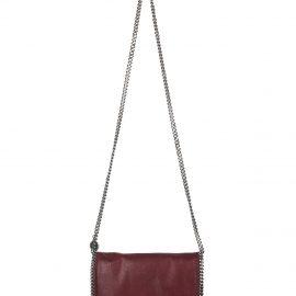 Stella McCartney Wine Red And Ruthenium Falabella Shoulder Bag
