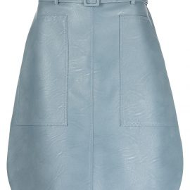Stella McCartney faux leather belted skirt - Blue