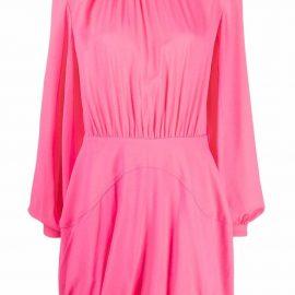Stella McCartney gathered mini shift dress - Pink