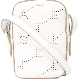 Stella McCartney perforated logo shoulder bag - White
