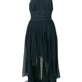 Stella McCartney ruched halterneck dress - Blue