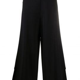 Stella McCartney side-slit cropped trousers - Black
