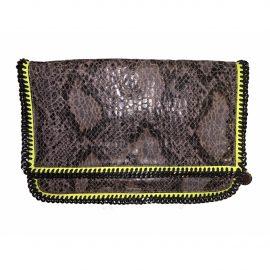 Stella Mccartney Falabella Grey Cloth Clutch Bag for Women
