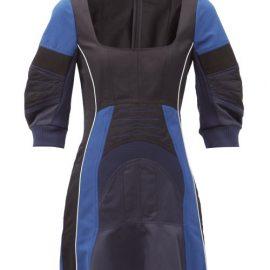 Stella Mccartney - Giselle Panelled Twill Dress - Womens - Black Multi