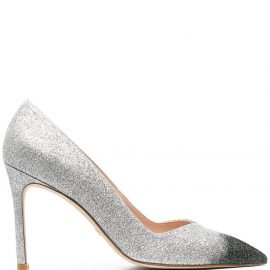 Stuart Weitzman Anny glittered pumps - Grey