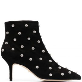 Stuart Weitzman Carine crystal-embellished boots - Black