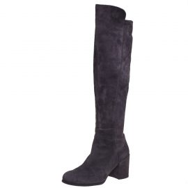Stuart Weitzman Grey Suede 50:50 Knee High Length Boots Size 37