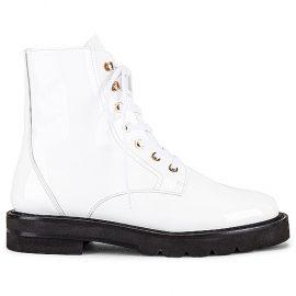 Stuart Weitzman Mila Lift Bootie in White. Size 9.5.