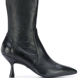 Stuart Weitzman Nappa point-toe ankle boots - Black