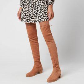 Stuart Weitzman Women's Midland Suede Over The Knee Heeled Boots - Tan