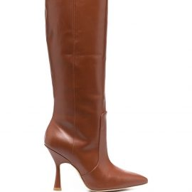 Stuart Weitzman heeled leather boots - Brown