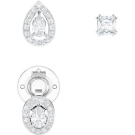 Swarovski Attract Rhodium Pierced Earrings