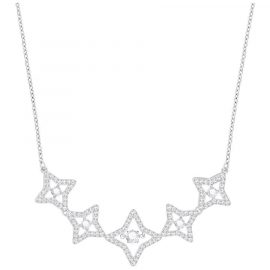 Swarovski Rhodium White Crystal Sparkling Dance Star Necklace Medium