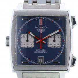TAG HEUER PRE-OWNED 2009 pre-owned Monaco 39mm - Blue