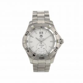 TAG HEUER PRE-OWNED pre-owned Aquaracer 40mm - Silver
