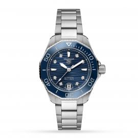 TAG Heuer Aquaracer Calibre 5 Automatic Ladies White Steel Watch WBP231B.BA0618