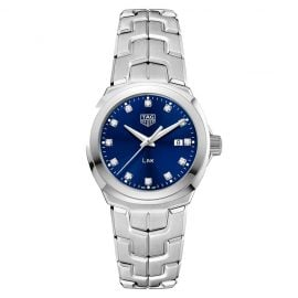 TAG Heuer Link Diamond Stainless Steel Bracelet Watch