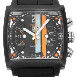 TAG Heuer Monaco CAL5110.FC6265, Baton, 2013, Used, Case material Steel, Bracelet material: Leather