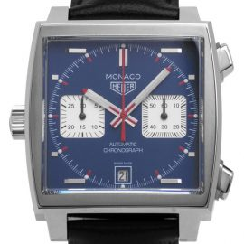 TAG Heuer Monaco CAW211P.FC6356, Baton, 2021, Unworn, Case material Steel, Bracelet material: Leather