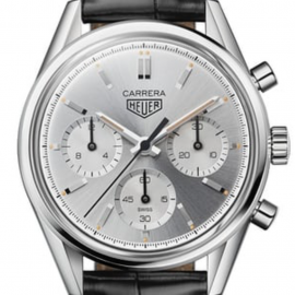 TAG Heuer Watch Carrera Calibre Heuer 02 160 Years Silver Limited Edition
