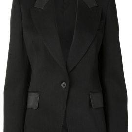 TOM FORD contrast-panel single-breasted blazer - Black