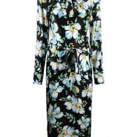 TOM FORD floral-print mid-length dress - Black