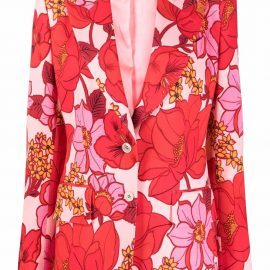 TOM FORD floral-print single-breasted blazer - Pink