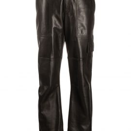 TOM FORD polished-finish trousers - Black