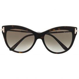 TOM FORD tortoiseshell cat-eye frame sunglasses - Black