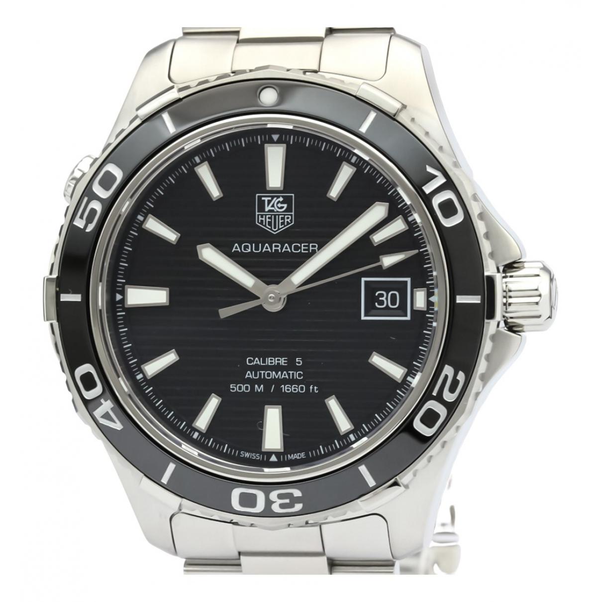Tag Heuer Aquaracer Black Steel Watch for Men