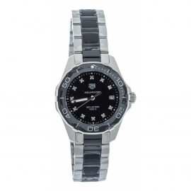 Tag Heuer Aquaracer Black Steel Watch for Women