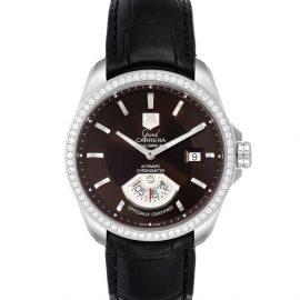 Tag Heuer Black Diamonds Stainless Steel Grand Carrera WAV511E Men's Wristwatch 42.5 MM