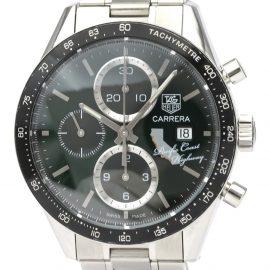 Tag Heuer Black Stainless Steel Carrera CV201N Automatic Men's Wristwatch 41 MM